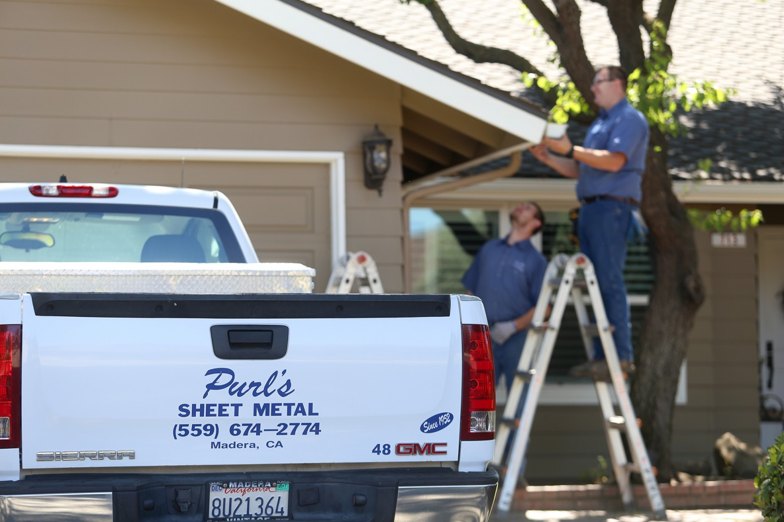 Rain gutter replacement Purls Sheet Metal Madera CA
