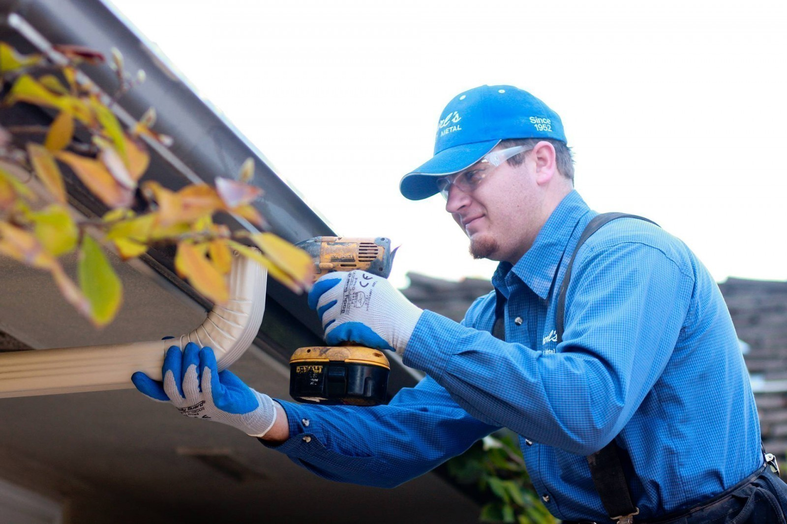 Rain gutter installation Purls Sheet Metal Madera CA