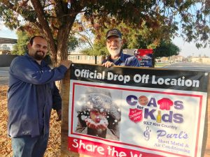 KISS Country and Purl's Sheet Metal helps out needy kids in Madera CA by collecting coats and jackets every year.